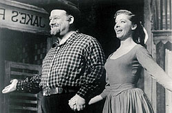 Burl Ives and Nola in Paint Your Wagon
